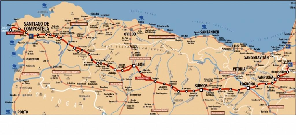 Daniel marabotti le parcours - Saint jean pied de port saint jacques de compostelle distance ...